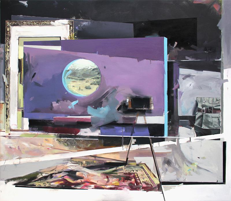 Christoph Rode, der feuchte Traum vom Nadelbaum Oil on Canvas (135cm x 155cm) 2017