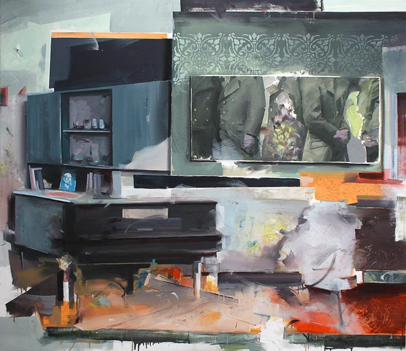 Christoph Rode, Wadim im Ruhesitz Oil on Canvas (135cm x 155cm) 2017