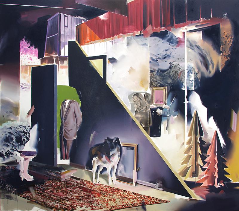 Christoph Rode, allgemeine Verunsicherung Oil on Canvas (135cm x 155cm) 2018