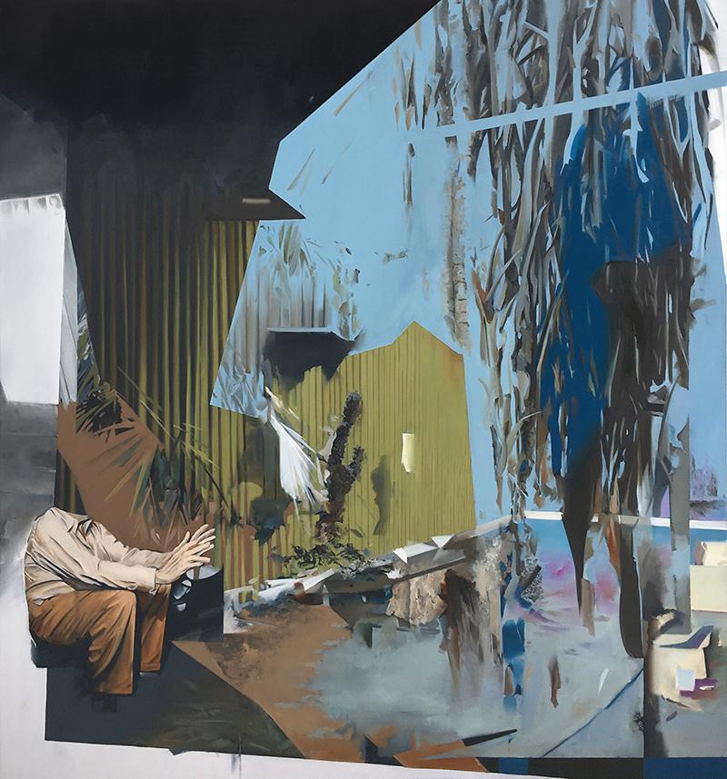 Christoph Rode, geregelte Formatierung, Oil on Canvas (150cm x 140cm) 2019