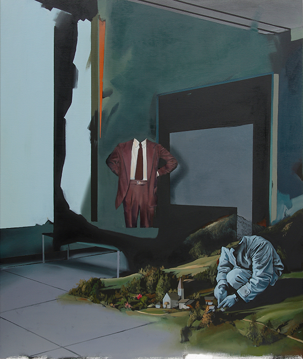 Christoph Rode, Pflege im Gefüge, Oil on Canvas (120cm x 100cm) 2019