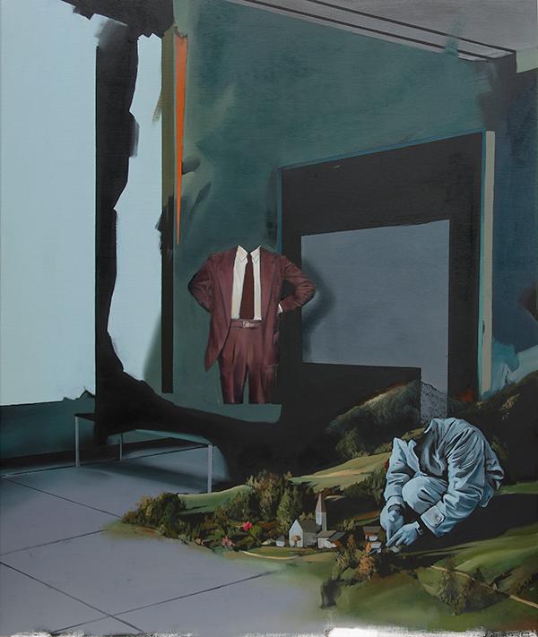 Christoph Rode, Pflege im Gefüge, Oil on Canvas (120cm x 100cm) 2019