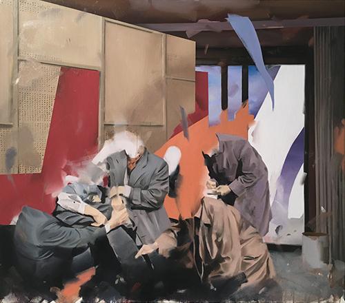 Christoph Rode, Analyse und Findung, Oil on Canvas (80cm x 70cm) 2020