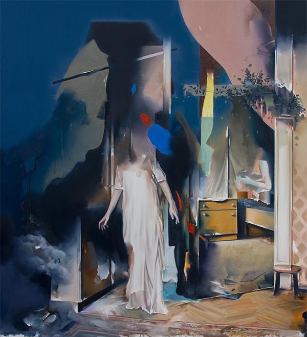 Christoph Rode, Reflexionen, Oil on Canvas (120cm x 110cm) 2020