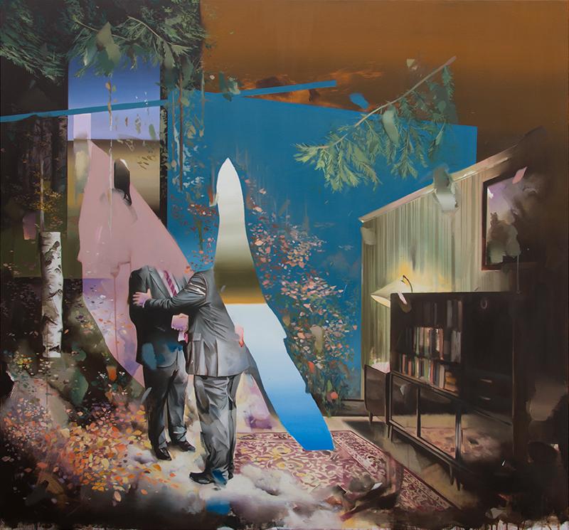 Christoph Rode, Schlüsselmoment, Oil on Canvas (140cm x 150cm) 2020