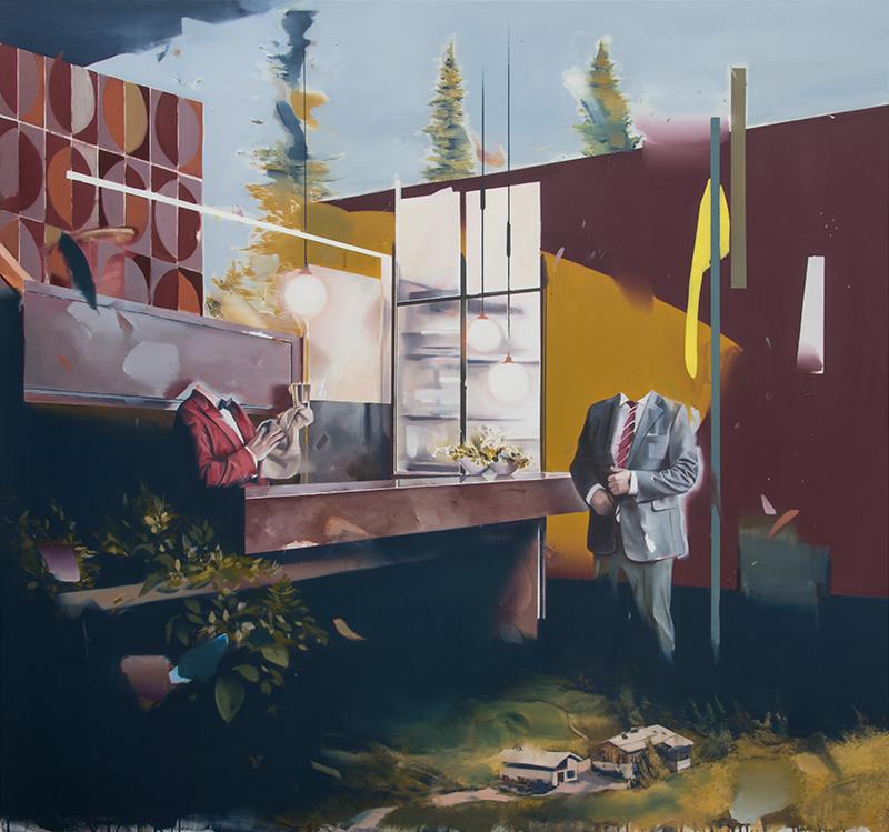 Christoph Rode, Signifikante Absichten, Oil on Canvas (140cm x 150cm) 2020