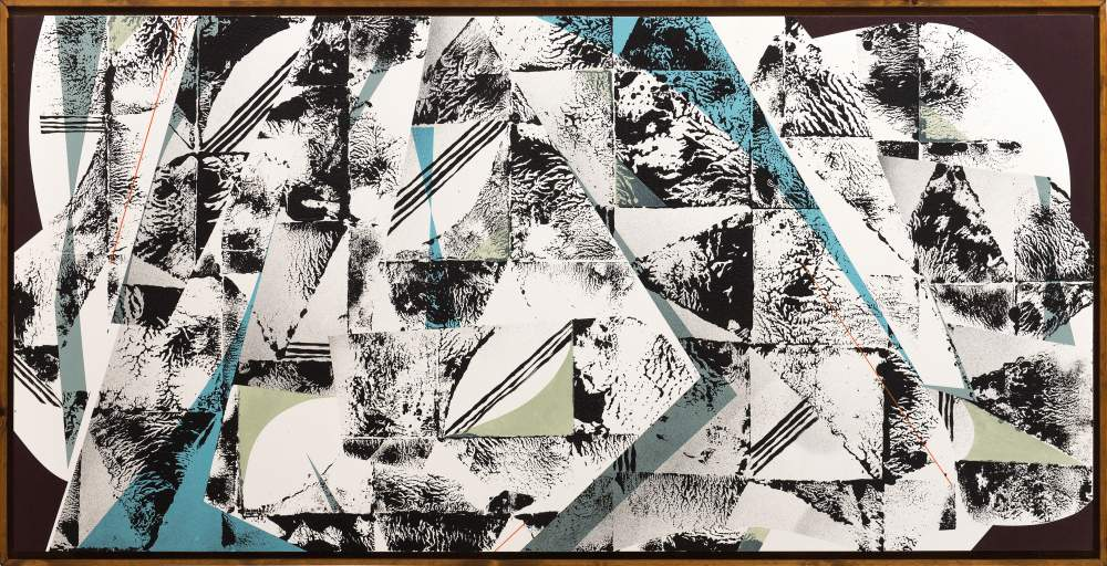 o.T. 55 acrylic on wood (80 x 160 cm / framed) 2020