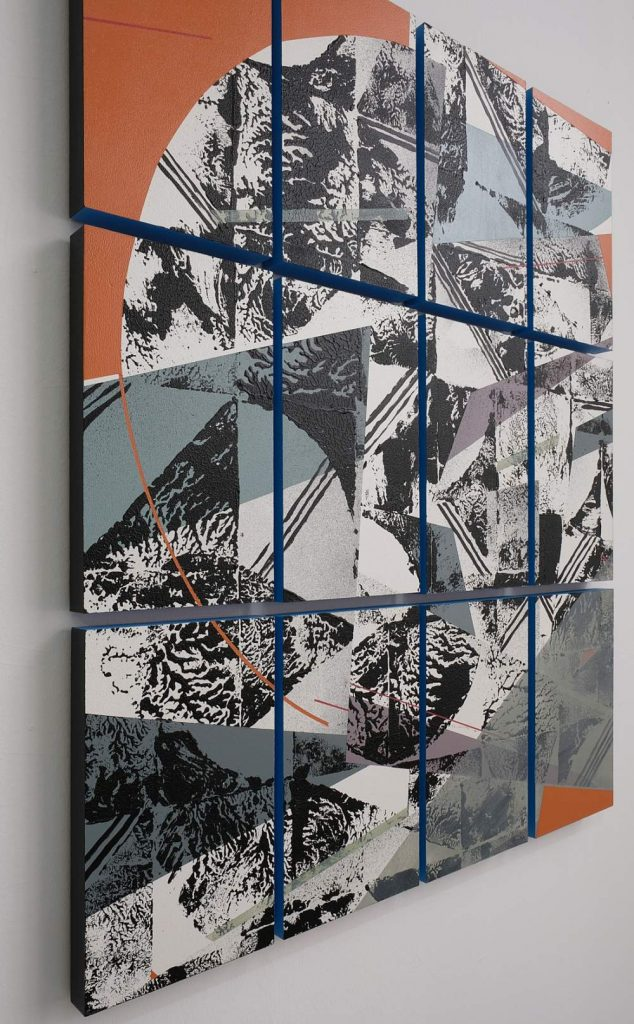 o.T. 57 (12 pieces) acrylic on woodpanels (ca. 93 x 76 cm) 2020