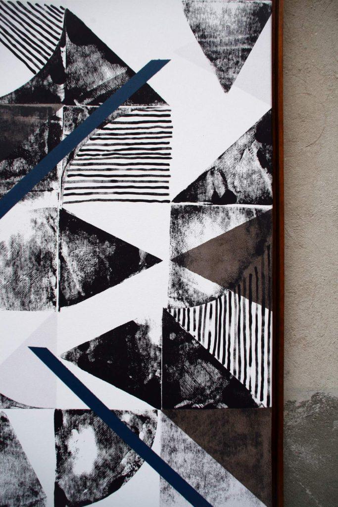 o.T. 12, Acrylic on canvas (180 x 120 cm) 2015 (Detail)