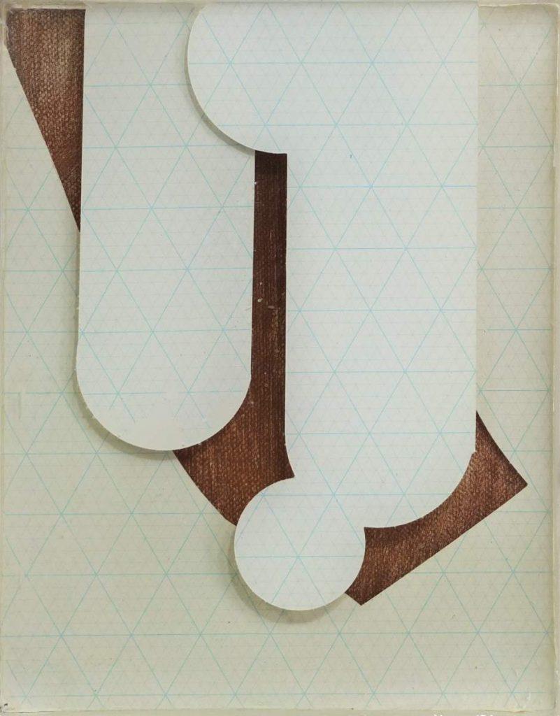 -quiet 2-, 26x21cm, Vinylfarbe, Transferdruck und Gießharz auf Leinwand geschichtet