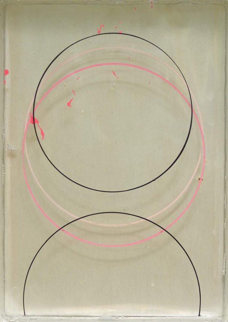-r3-, 23x17cm, Acryl und Epoxidharz auf Holz geschichtet