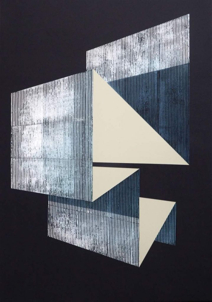 future parts 24, Spraypaint & Acrylic on Canvas (100x70cm) 2019