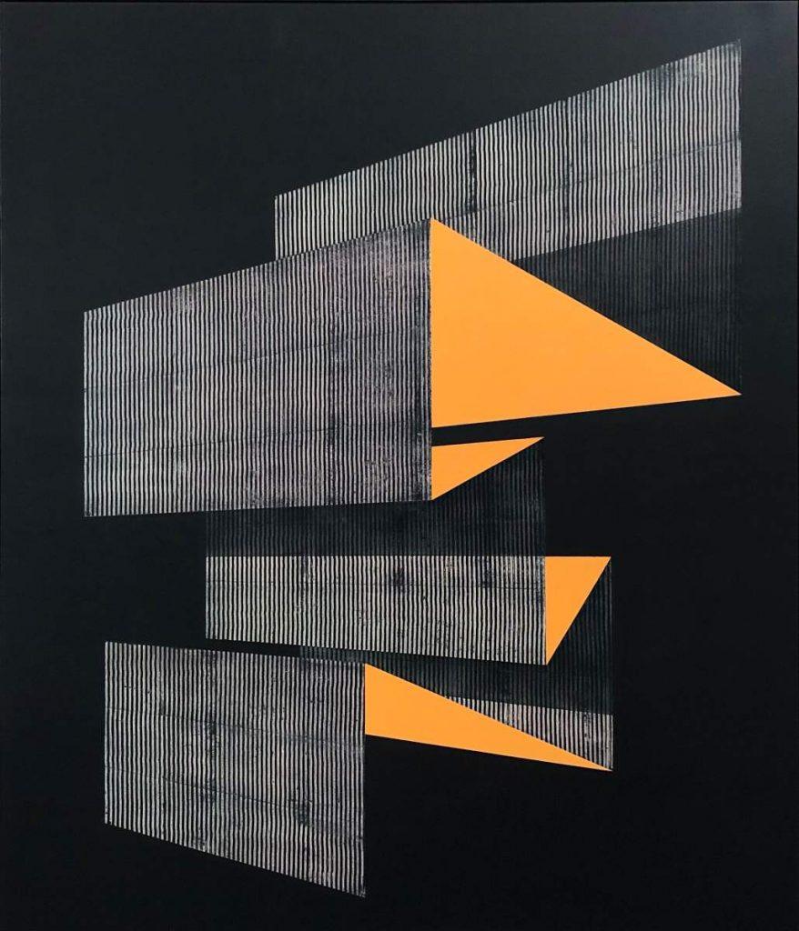 future parts x, Spraypaint & Acrylic on Canvas (140x120cm) 2019