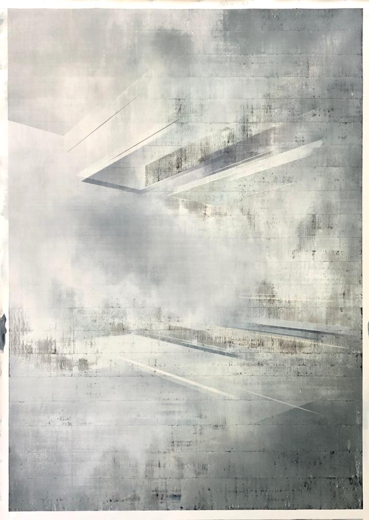 o.T. Spraypaint & Acrylic on Canvas (200x140cm) 2020