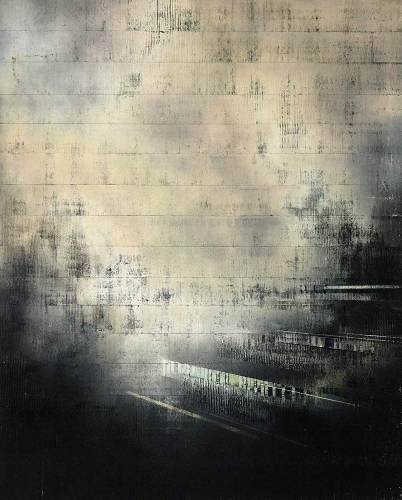 zusammen sichtbar Spraypaint & Acrylic on Canvas (140x105cm) 2020