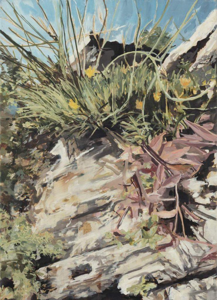 Steingarten, 70x50cm, Öl auf Leinwand
