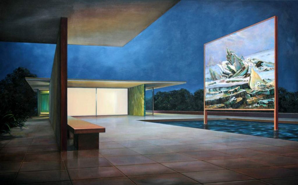 Pavillon (C.D. Friedrich II), 2018, 120x190cm, Oil on Canvas