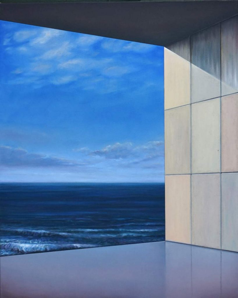 Room at the sea I, 2020, 120x100cm, Oil on canvas