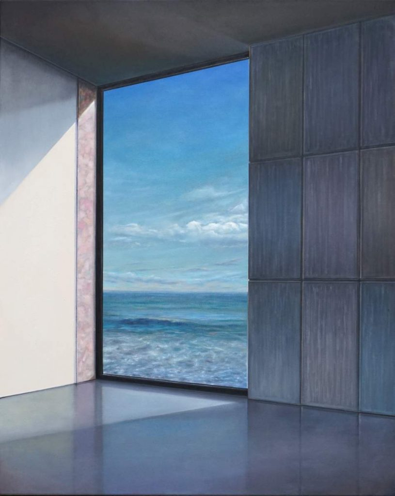 Room at the sea II, 2020, 120x100cm, Oil on canvas